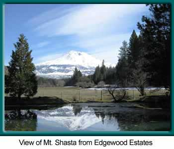 Image of Mt. Shasta as seen from Edgewood Estates